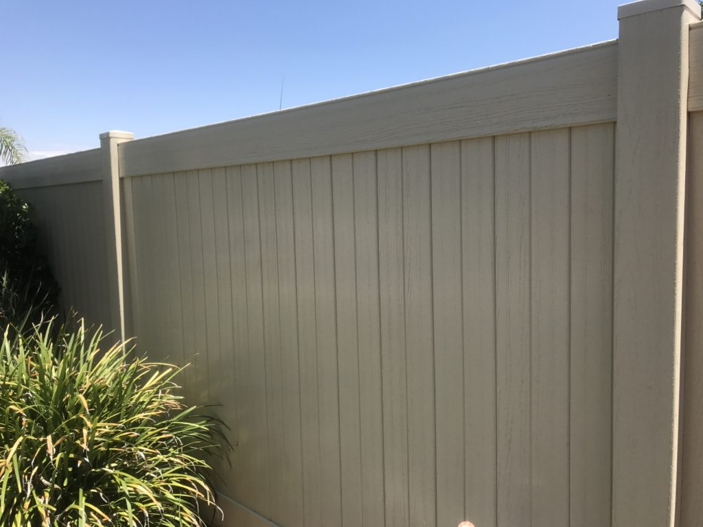 Tan Privacy Vinyl embossed Fence