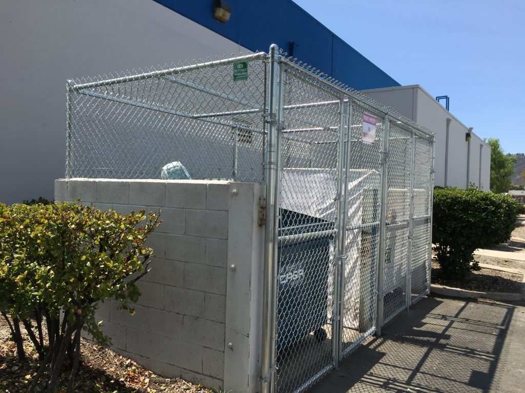 Chainlink Trash enclosure