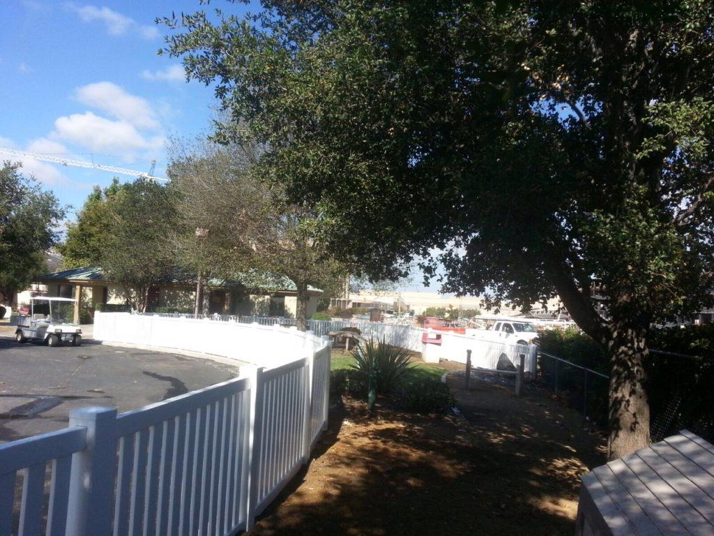 Vinyl Dog Park fence Temecula Ca.