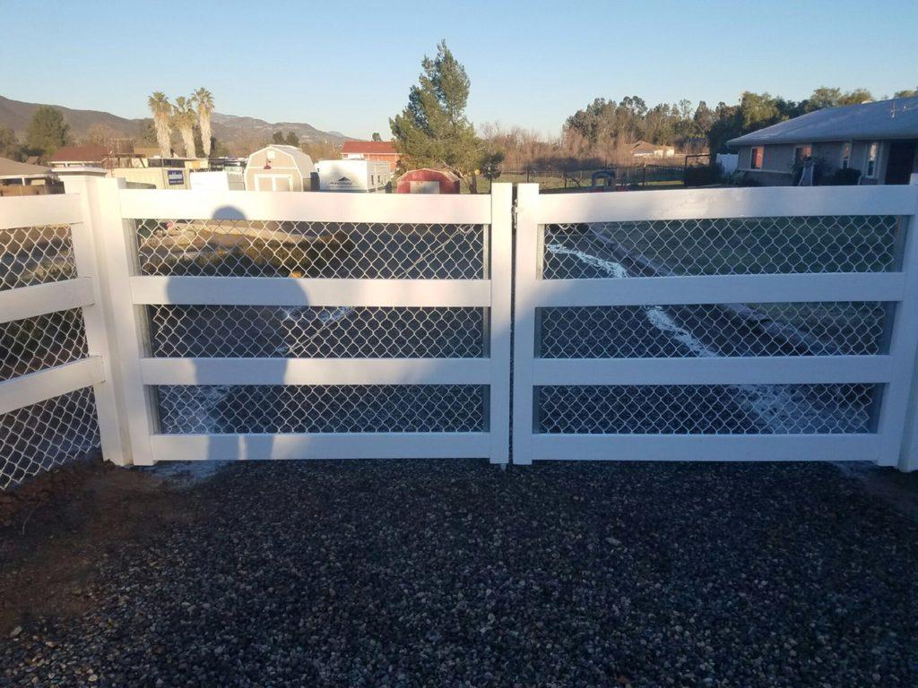 Four Rail Vinyl Ranch gate
