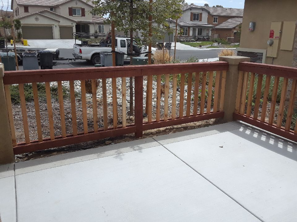 Custom wood picket fence